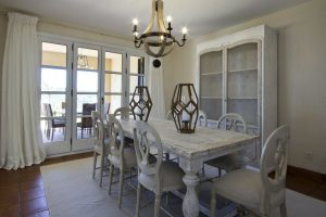Ample Dining Room in one of the Villas
